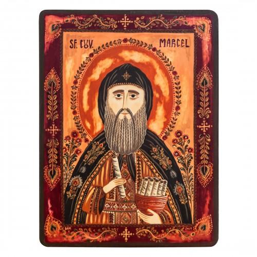 "Wood icon, ""Saint Marcel"""